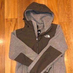 North face fleece zip up with hood